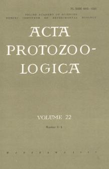 Acta Protozoologica, Vol. 22, Nr 3-4