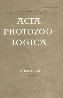 Acta Protozoologica, Vol. 23, Nr 1