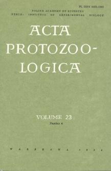 Acta Protozoologica, Vol. 23, Nr 4