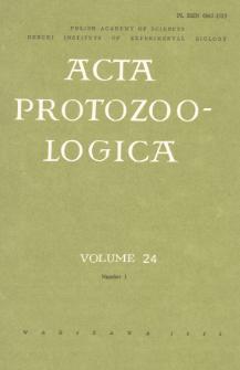Acta Protozoologica, Vol. 24, Nr 1