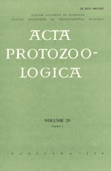 Acta Protozoologica, Vol. 25, Nr 1