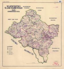 Województwo Śląsko-Dąbrowskie : mapa administracyjna