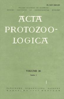 Acta Protozoologica, Vol. 26, Nr 1