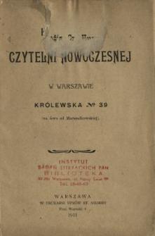 Katalog Czytelni Nowoczesnej w Warszawie, Królewska no 39 (na lewo od Marszałkowskiej)