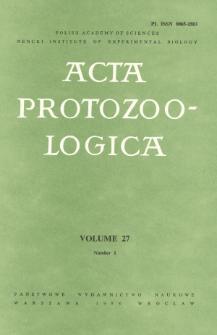 Acta Protozoologica, Vol. 27, Nr 1