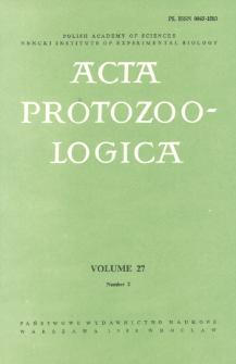 Acta Protozoologica, Vol. 27, Nr 2