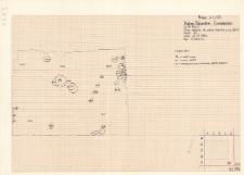 KZG, V 9 C, strop warstwy 46, zarys słupków warstwy 39 i 40