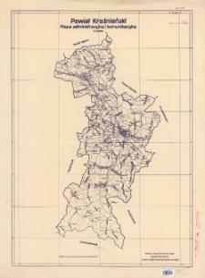 Powiat krośnieński : mapa administracyjna i komunikacyjna : 1:100 000