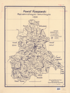 Powiat rzeszowski : mapa administracyjna i komunikacyjna : 1:100.000