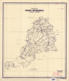 Mapa powiatu lwóweckiego, Dolny Śląsk : podziałka 1:100 000