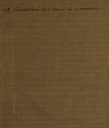 Traduction De l'ordre, de la marche & des cérémonies prescrites pour l'Aniversaire de la Constitution du 3 Mai 1791 : [Dat.:] Dan w Warszawie dnia 20. Kwietnia 1792 = Donné à Varsovie ce 20eme jour d'avril 1792