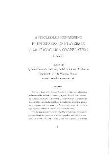 A Nucleolus Expressing Preferences of Players in a Multicriteria Cooperative Game