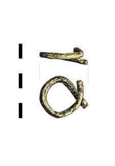 item, round, bent, bronze
