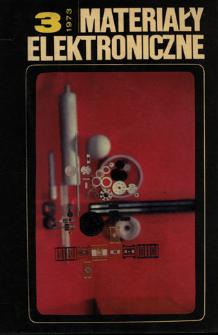 Materiały Elektroniczne 1973 nr 3