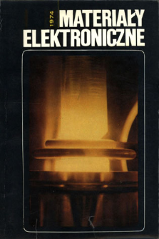 Materiały Elektroniczne 1974 = Electronic Materials 1974