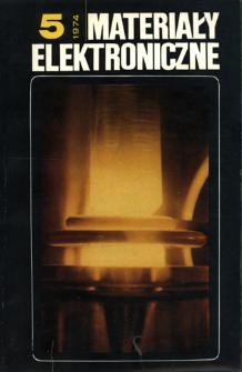 Materiały Elektroniczne 1974 nr 5