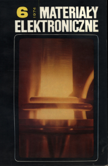 Materiały Elektroniczne 1974 nr 6