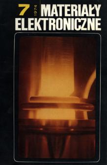 Materiały Elektroniczne 1974 nr 7