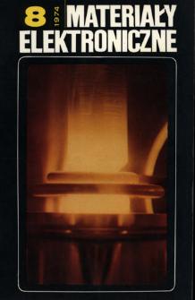Materiały Elektroniczne 1974 nr 8