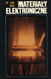 Materiały Elektroniczne 1975 nr 1(9)