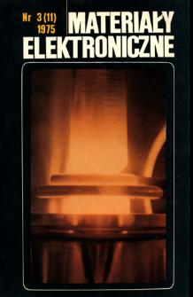 Materiały Elektroniczne 1975 nr 3(11)