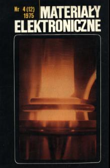 Materiały Elektroniczne 1975 nr 4(12)