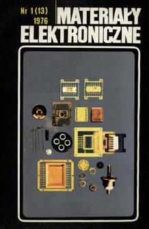 Materiały Elektroniczne 1976 nr 1(13)