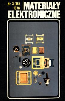 Materiały Elektroniczne 1976 nr 3 (15)