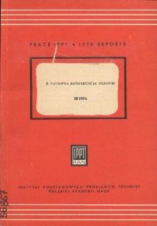 II Naukowa Konferencja IMJON'85 : Praca zbiorowa