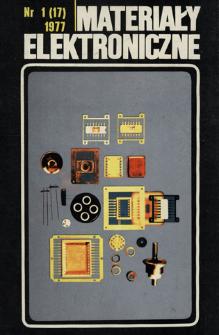 Materiały Elektroniczne 1977 nr 1(17)