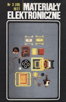 Materiały Elektroniczne 1977 nr 3(19)