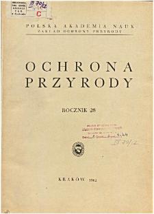Ochrona Przyrody R. 28 (1962)
