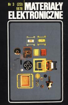 Materiały Elektroniczne 1978 nr 3(23) = Electronic Materials 1978 nr 3(23)
