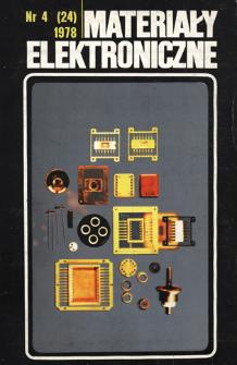 Materiały Elektroniczne 1978 nr 4(24)