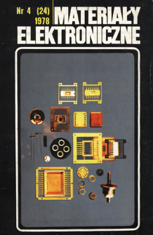Materiały Elektroniczne 1978 nr 4(24) = Electronic Materials 1978 nr 4(24)