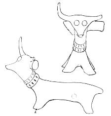small ox with a yoke (Bytyń)