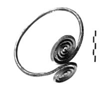 naramiennik z dwiema tarczami spiralnymi (Dratów)