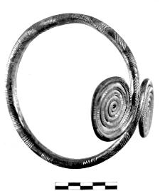 armlet with two spiral discs (Żyrardów)