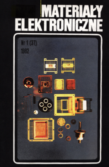 Materiały Elektroniczne 1981 nr 1(37) = Electronic Materials 1982 nr 1(37)