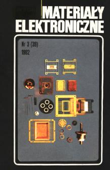 Materiały Elektroniczne 1982 nr 3(39)