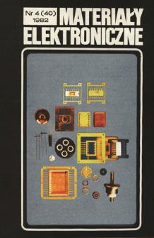 Materiały Elektroniczne 1982 nr 4(40)