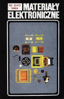 Materiały Elektroniczne 1983 nr 1( 41) = Electronic Materials 1983 nr 1(41)