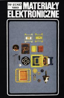 Materiały Elektroniczne 1983 nr 2(42)