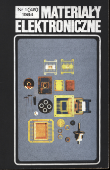 Materiały Elektroniczne 1984 nr 1(45)