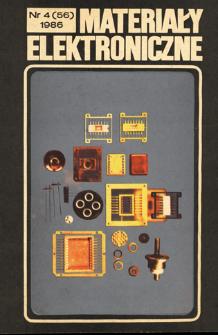 Materiały Elektroniczne 1986 nr 4(56) = Electronic Materials 1986 nr 4(56)