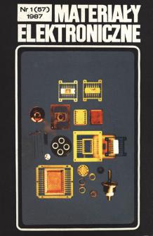 Materiały Elektroniczne 1987 nr 1(57)