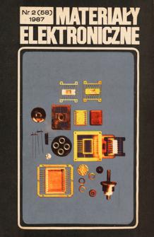 Materiały Elektroniczne 1987 nr 2(58)
