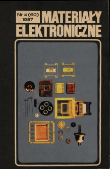 Materiały Elektroniczne 1987 nr 4(60)