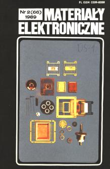 Materiały Elektroniczne 1989 nr 2(66)