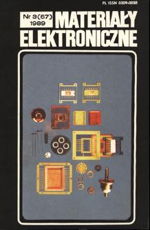 Materiały Elektroniczne 1989 nr 3(67)